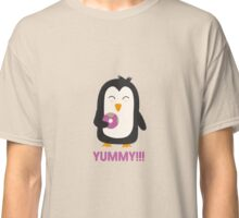 Penguin with a Doughnut   Classic T-Shirt