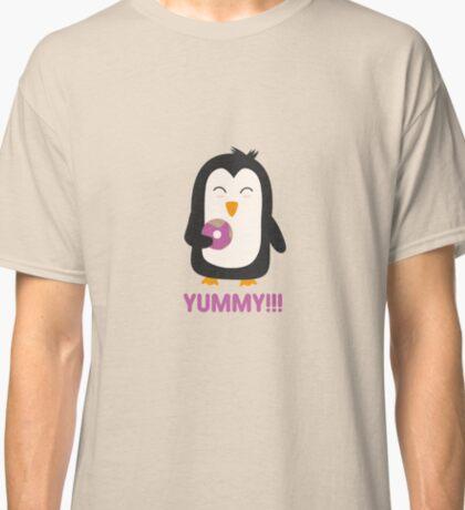Penguin with a Doughnut   Classic T-Shirt