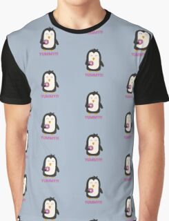 Penguin with a Doughnut   Graphic T-Shirt