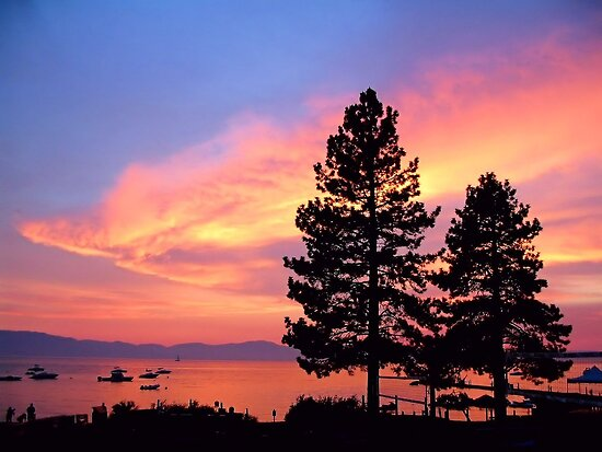 Lake Tahoe Sunset by Rosalee Lustig