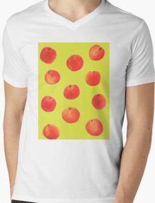 Peach Mens V-Neck T-Shirt