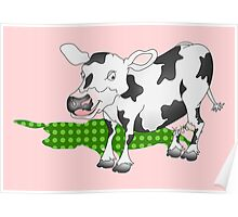 Cow Casting a Green Shadow Poster