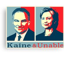 Kaine And Unable! Canvas Print
