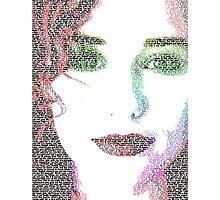 Tori Amos (with Cornflake girl lyrics) Photographic Print
