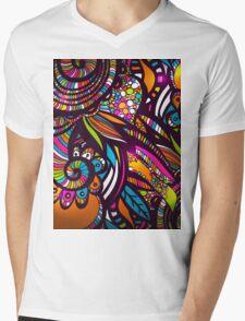 Ornamental zentangles inspired. Mens V-Neck T-Shirt