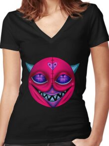 Phat Cat Women's Fitted V-Neck T-Shirt
