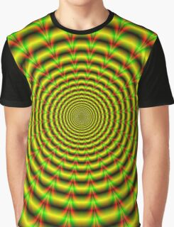 Pulse in Red Yellow and Green Graphic T-Shirt