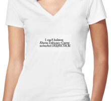 PERFECTION M1 Women's Fitted V-Neck T-Shirt