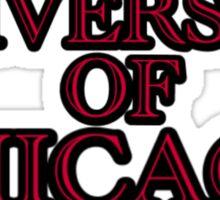 University of Chicago (UChicago) Text Sticker