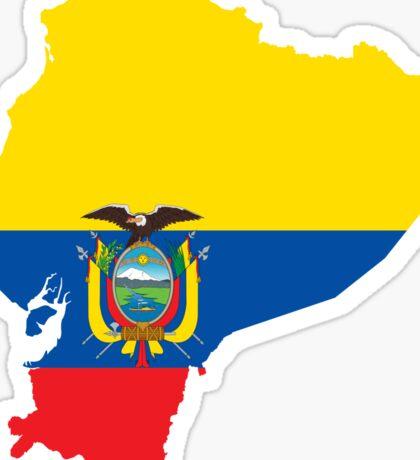 Ecuador Flag Map Sticker