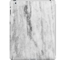 White And Gray Marble Pattern iPad Case/Skin