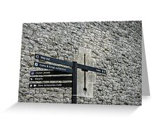 Where to Go First? Greeting Card