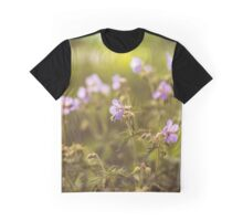 wild flowers in  light at sunset Graphic T-Shirt