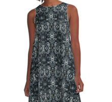 Fractal Space Pattern A-Line Dress