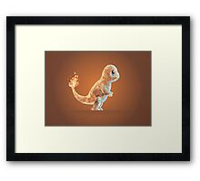 Porymon Charmander | Pokemon Framed Print