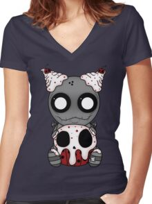 Sweet Tooth: Cupcakes Women's Fitted V-Neck T-Shirt