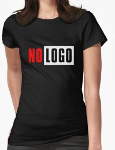logo no Womens Fitted T-Shirt