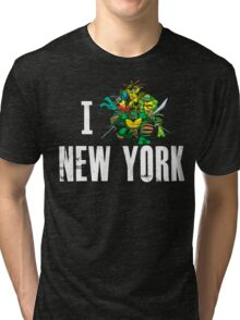 I Ninja Turtle New York - Black Tri-blend T-Shirt