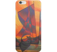 Red Sails in the Sunset Cubist Junk Abstract iPhone Case/Skin