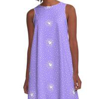 8-Bit Snow Storm A-Line Dress