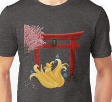 Ninetails under the Moonlight - Sakura Tree Version Unisex T-Shirt