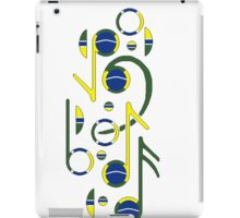 Brazil Flag Musical Notes iPad Case/Skin