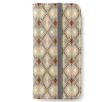 Fancy Diamonds Pattern iPhone Wallet/Case/Skin