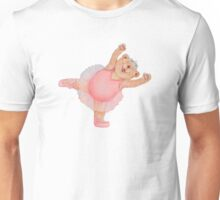 Pink ballerina ballet bear (no background) Unisex T-Shirt
