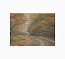 Craggy Gardens Autumn Road in the Rain Unisex T-Shirt