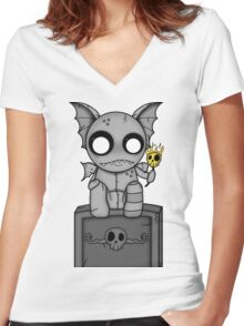 The Night Watcher Women's Fitted V-Neck T-Shirt