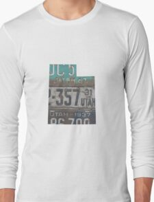 Vintage Utah License Plates Long Sleeve T-Shirt