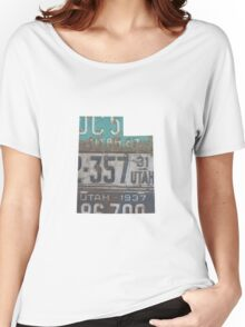 Vintage Utah License Plates Women's Relaxed Fit T-Shirt