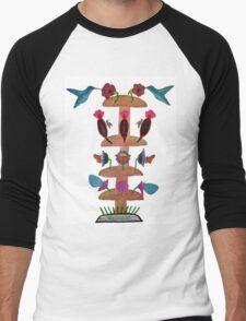 Mushroom Tower Fuel Station Men's Baseball ¾ T-Shirt