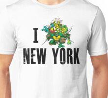 I Ninja Turtle New York - White Unisex T-Shirt