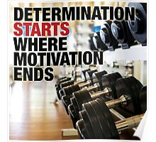Determination Starts Where Motivation Ends Poster
