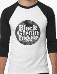 Black Circle Digger Men's Baseball ¾ T-Shirt