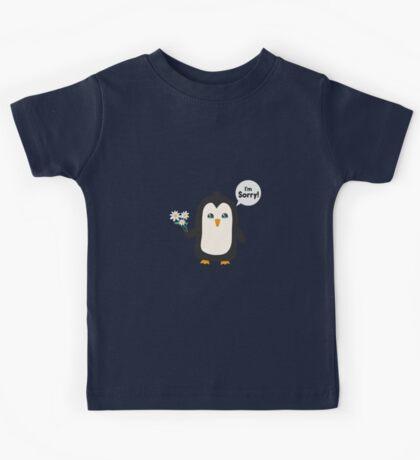 Penguin apology   Kids Tee