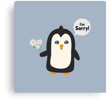 Penguin apology   Canvas Print
