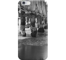 Jetty Poles at Low Tide iPhone Case/Skin