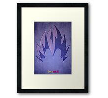Vegeta Minimalist Framed Print