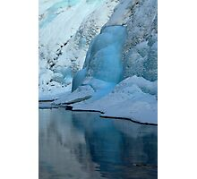 Blue Ice Flow Reflections Photographic Print
