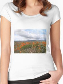 Antelope Valley California Poppy Reserve Women's Fitted Scoop T-Shirt