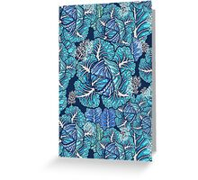 blue winter cabbage Greeting Card