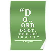 Yoda, Eye Chart Poster