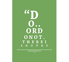 Yoda, Eye Chart Photographic Print