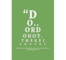 Yoda, Eye Chart Photographic Print