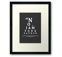Vader, Eye Chart Framed Print