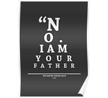 Vader, Eye Chart Poster