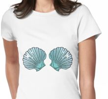 Mermaid Shells Green Sparkles Womens Fitted T-Shirt