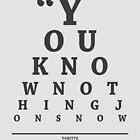 Ygritte, Eye Chart by Alex Boatman